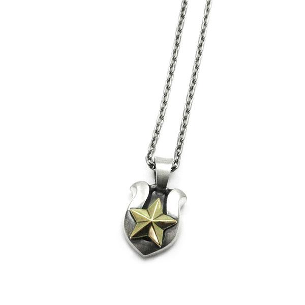 【Penny Black】星 シルバー×真鍮 ペンダント [P-019]