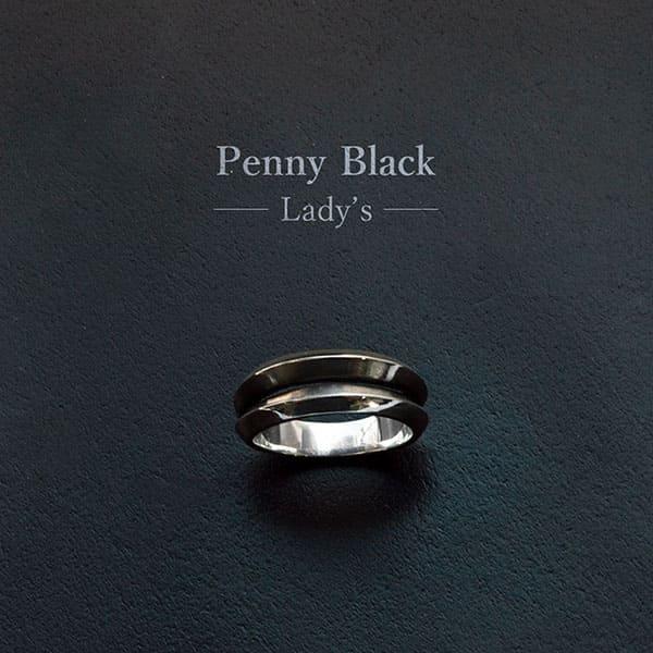 【配送選択可。クリックポスト便は送料無料(指定日・代引き・ギフト不可)】【Penny Black】スター シルバーリング(レディス)  [P-030]