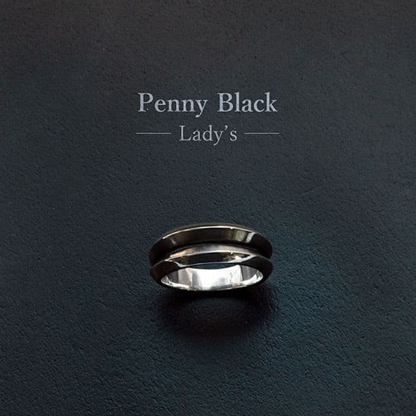 【配送選択可。ネコポス便は送料無料(指定日・代引き・ギフト不可)】【Penny Black】スター シルバーリング(レディス)  [P-030]