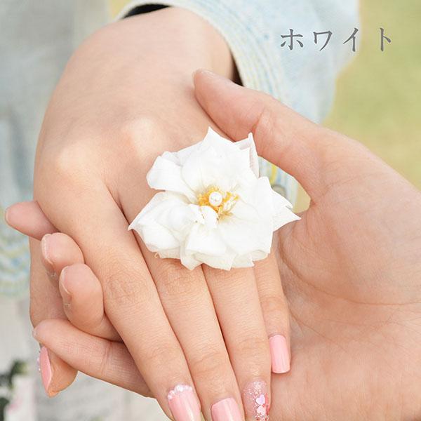 プロポーズリング 花 フレンチマリアンヌ バラ ブリザーブドフラワー 天然パール シルバーリング/指輪(レディス) DAgDART/ダグダート PR002