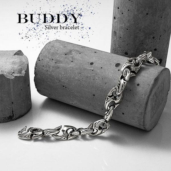 送料無料 【BUDDY】釣り針モチーフ シルバーブレスレット [DB-145]