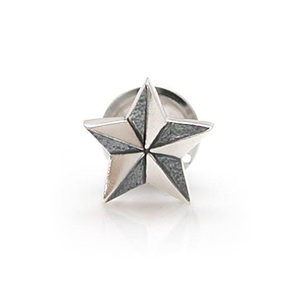 スーツアクセサリー 星(スター)モチーフ シルバーラペルピン ピンズ  [DG-036]