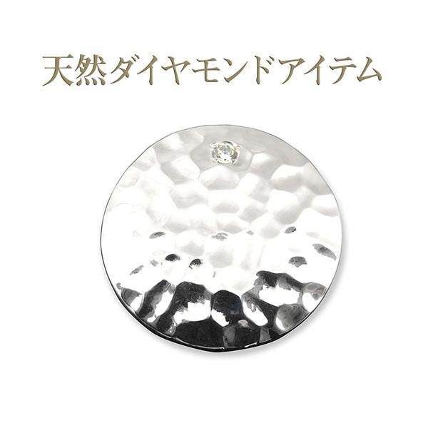 【dagdart GOLF】 天然ダイヤモンド シルバーボールマーカー DG-099]