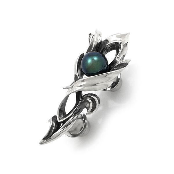 【Dice】 ブラックパール×シルバーラペルピン  [DK-055]