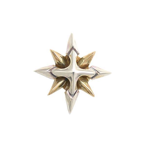 【Shining Crystal】 ゴールド×シルバーピアス [DP-060G]