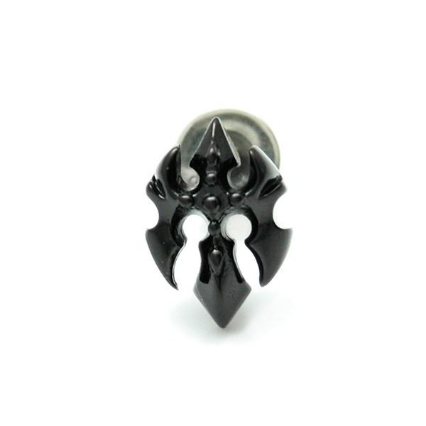 【Dshade】 シルバー×ブラックチタンピアス [DP-065T]