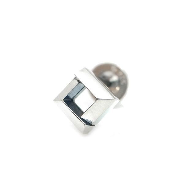【Glass】 シルバーピアス [DP-095]