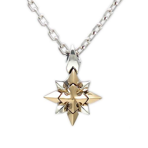 【Shining Crystal】 ゴールド×シルバーペンダント [DT-232G]