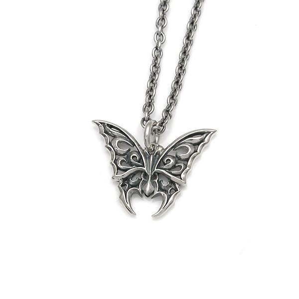 【配送選択可。ネコポス便は送料無料(指定日・代引き・ギフト不可)】【Butterfly】 蝶モチーフ シルバーペンダント [DT-287]