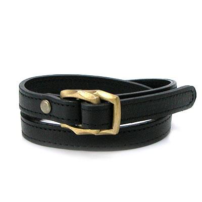 【Leather & brass】 真鍮×レザーブレス 選べるカラー ~ブラック/ブラウン~ [DB-066]