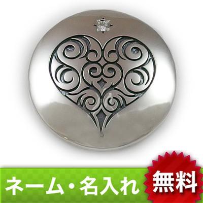 【dagdart GOLF】 選べる誕生石 トライバル柄ハート シルバーボールマーカー [MS-042]