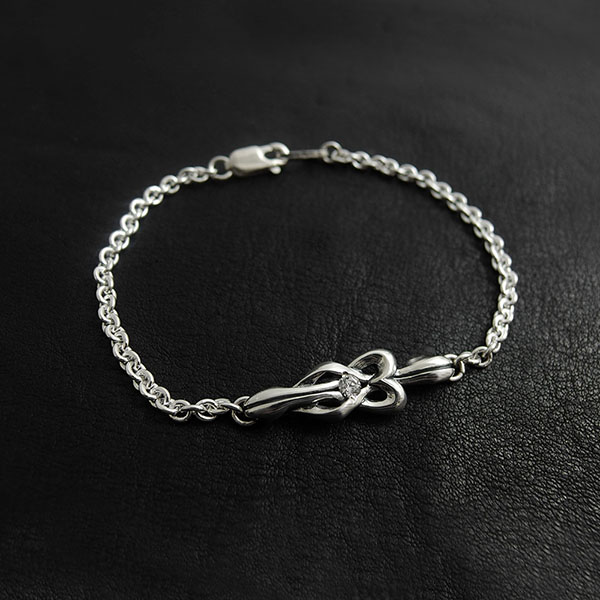 【true knot】シルバーメンズブレスレット  [DB-188]