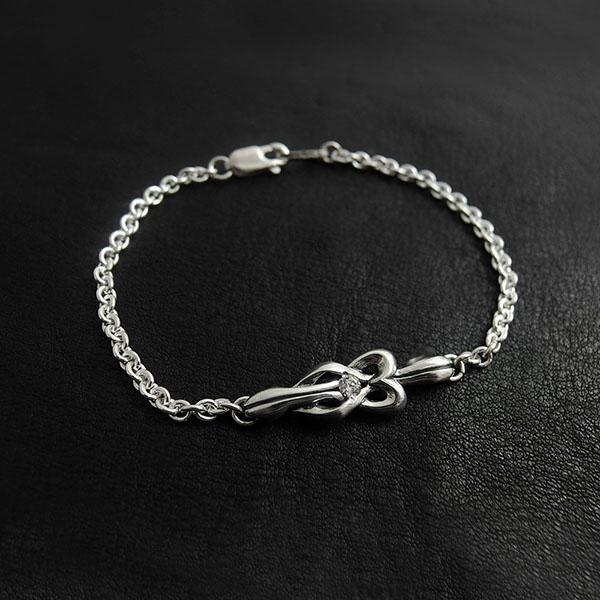 送料無料 【true knot】シルバーメンズブレスレット  [DB-188]