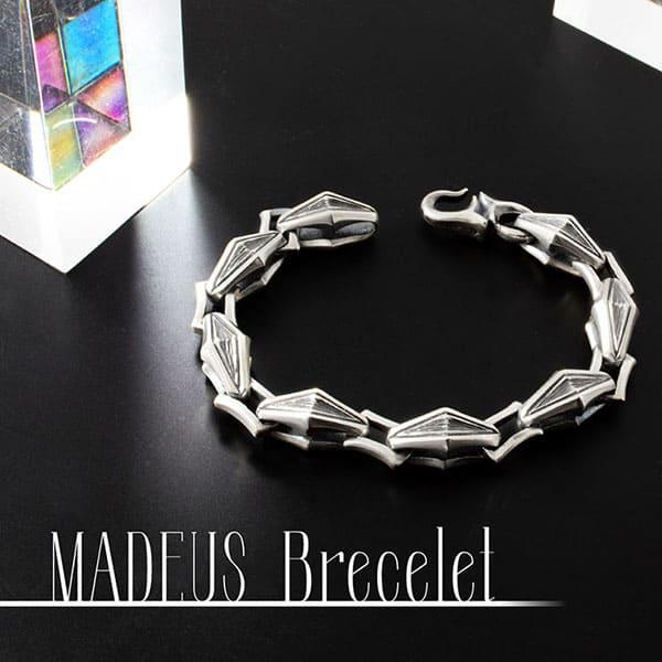 送料無料 【MADEUS】シルバーブレスレット  メンズ [DB-189]