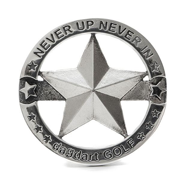 送料無料 【dagdart GOLF】 ゴルフマーカー ボールマーカー 名入れ ハート  MS-058
